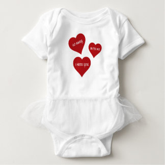 Hass-Valentinsgrüße Baby Strampler