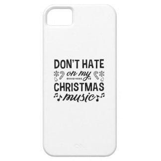 Hassen Sie nicht auf meiner Weihnachtsmusik iPhone 5 Schutzhülle