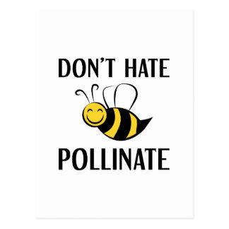 Hassen Sie nicht bestäuben Postkarte
