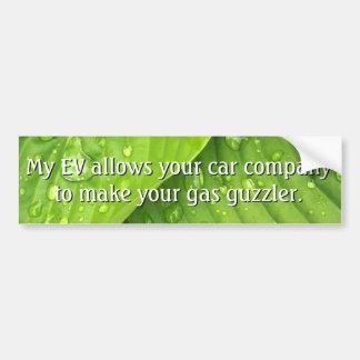 Hassen Sie nicht EVs Autoaufkleber