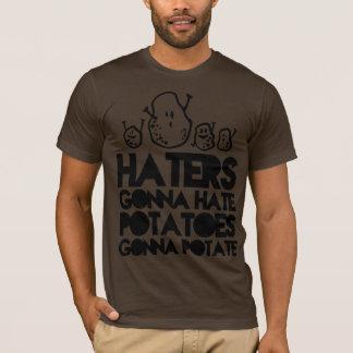 Hasser, die gehen zu hassen, Kartoffeln gehen zum T-Shirt