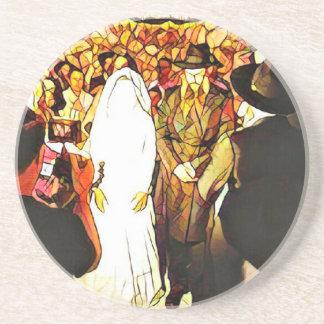 Hassidic Hochzeit Untersetzer