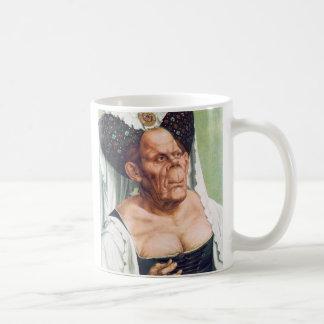 Hässliche alte Frau durch Quentin Massys Kaffeetasse