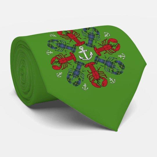 Hässliche Krawatte des Hummer-Schneeflocke-Ankers