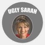 Hässliche Sarah Runde Aufkleber