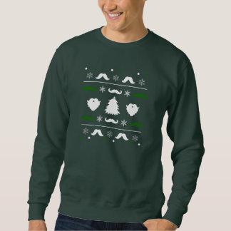 Hässliche Schnurrbart-Weihnachtsstrickjacke Sweatshirt