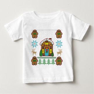 Hässliche Strickjacke-Lebkuchen-Haus-Männer Baby T-shirt