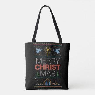 Hässliche Weihnachtsstrickjacke-fröhlicher Tasche