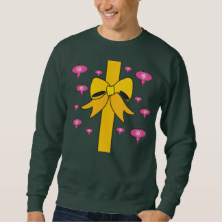 Hässliche Weihnachtsstrickjacke-großer Bogen Sweatshirt