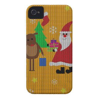 Hässliche Weihnachtsstrickjacke iPhone 4 Etuis