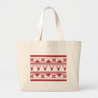 hässliche Weihnachtsstrickjacke Jumbo Stoffbeutel