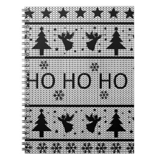 Hässliche Weihnachtsstrickjacke Notizblock