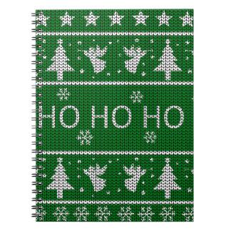 Hässliche Weihnachtsstrickjacke Spiral Notizblock