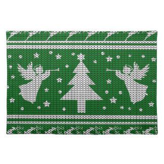 Hässliche Weihnachtsstrickjacke Stofftischset