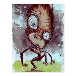 Hässlicher Affe wild Postkarte
