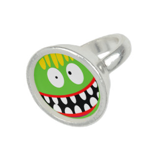 hässlicher Monstersmiley des Cartoon Ringe