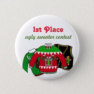 Hässlicher Strickjacke-Wettbewerb-Sieger Runder Button 5,1 Cm