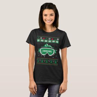 Hässlicher Weihnachtssnowboarding-T - Shirt