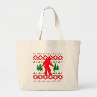 Hässliches Weihnachten Bigfoot Jumbo Stoffbeutel