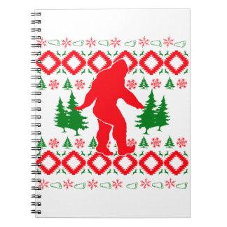 Hässliches Weihnachten Bigfoot Notizblock