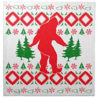 Hässliches Weihnachten Bigfoot Serviette