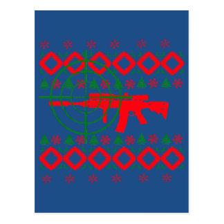 Hässliches Weihnachtsgewehr Postkarte