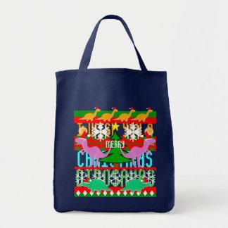 Hässliches Weihnachtsstrickjacke-Muster-niedliche Tragetasche