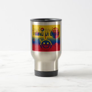 Hasta sofort! Kolumbien-Flagge färbt Pop-Kunst Edelstahl Thermotasse