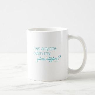 Hat jemand meinen Glaspantoffel gesehen? Kaffeetasse