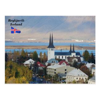 Háteigskirkja, Reykjavik, Island Postkarte