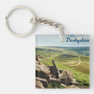 Hathersage machen im Derbyshire-Andenken-Foto fest Schlüsselanhänger