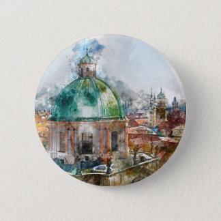 Haube in Tschechischer Republik Prags Runder Button 5,1 Cm
