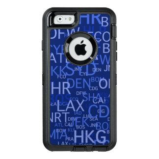 Häufiger Flyer-Flughafen kodiert Blau OtterBox iPhone 6/6s Hülle