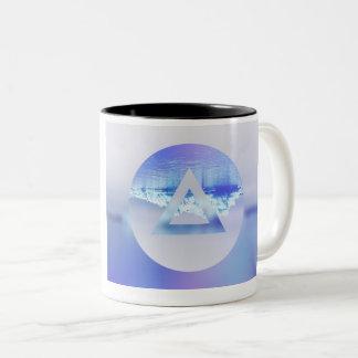 Haupt-Tasse LA Dreieck-[MANN] Zweifarbige Tasse