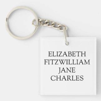 Hauptcharakter-Stolz und Vorurteil Jane Austen Schlüsselanhänger
