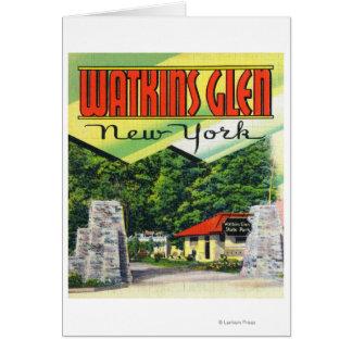 Haupteingangs-Ansicht zum Watkins Glen-Staats-Park Karte