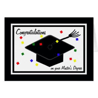 Hauptgrad-Abschluss-Karte Grußkarte