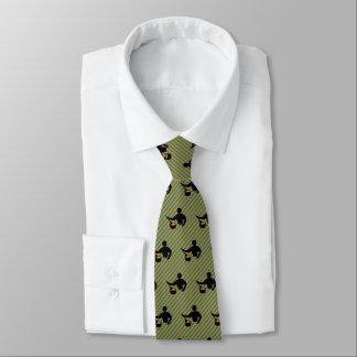 Hauptkoch - Neuheit, die Typ-Motiv auf gestreiftem Krawatte
