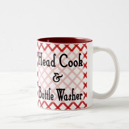 Hauptkoch-und Flaschenwaschmaschine-lustige Sprich Kaffeetasse