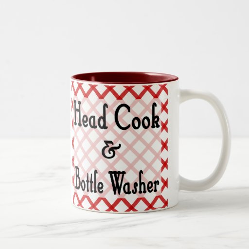 Hauptkoch-und Flaschenwaschmaschine-lustige Zweifarbige Tasse