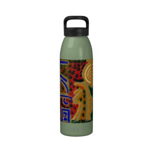 HauptReikiHealingArt Symbol Wiederverwendbare Wasserflasche