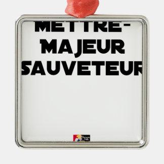 HAUPTRETTER STELLEN - Wortspiele Silbernes Ornament