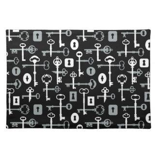 Hauptschlüssel-Muster Stofftischset
