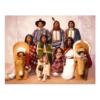 HauptSevero und Familie (Ute-Leute) Postkarte