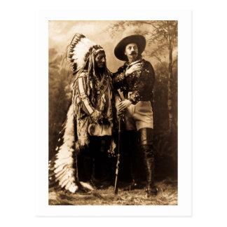 Hauptsitting Bull und Buffalo Bill 1895 Postkarte