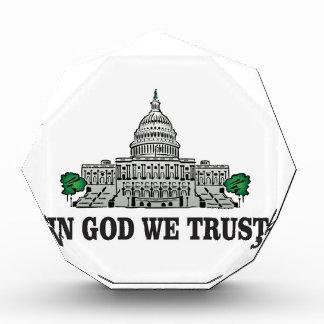 Hauptstadt im Gott, den wir vertrauen Acryl Auszeichnung