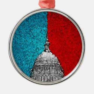 Hauptstadts-Gebäude abstrakt Silbernes Ornament