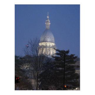 Hauptstadts-Gebäude Lansing Michigan Postkarte