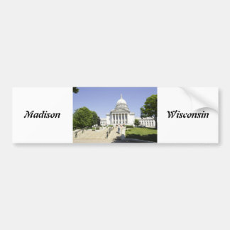 Hauptstadts-Gebäude-Madison WI Autoaufkleber