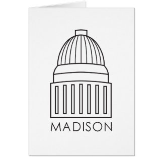 Hauptstadts-Gebäude Madisons Wisconsin Karte